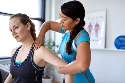 woman shoulder stretch backwards
